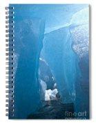 Lighting In Nigardsbreen Glacier Grotto 1 Spiral Notebook