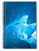 Lighting In Nigardsbreen Glacier Grotto 3 Spiral Notebook