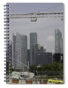 Lighting Work For The Singapore Formula One And A View Of The Helix Bridge Spiral Notebook