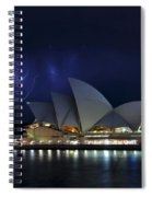 Lightning Behind The Opera House Spiral Notebook