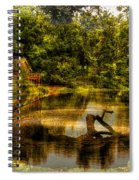 Lightning Strike By The Nature Center Merged Image Spiral Notebook