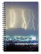 Lightning Striking Over Phoenix Arizona Spiral Notebook