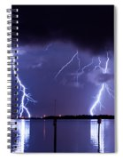 Lightning Over Tampa Causeway Spiral Notebook