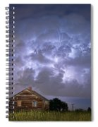 Lightning Thunderstorm Busting Out Spiral Notebook