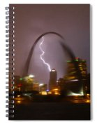 Lightning With The St Louis Arch Spiral Notebook
