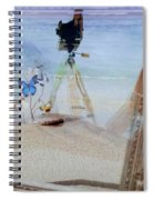 Lights Butterflies Sand And Surf Spiral Notebook
