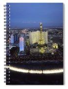 Lights Of Vegas Spiral Notebook