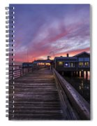 Lights On The Dock Spiral Notebook