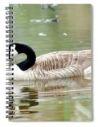 Lila Goose Queen Of The Pond 2 Spiral Notebook