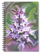 Lilac Abstract Spiral Notebook