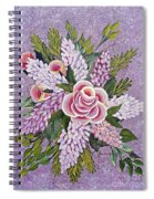 Lilac And Rose Bouquet Spiral Notebook