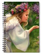 Lilac Angel Spiral Notebook
