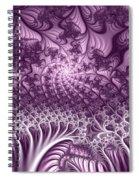 Lilac Fractal World Spiral Notebook