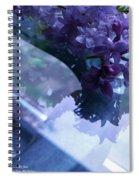 Lilac Glass Spiral Notebook