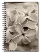 Lilac Macro Sepia Tone Spiral Notebook