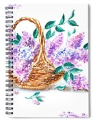 Lilac Vintage Impressionism Painting Spiral Notebook