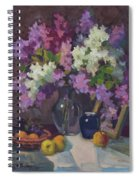 Lilacs And Blue Vase Spiral Notebook