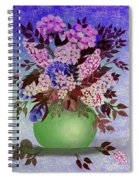 Lilacs And Queen Anne's Lace In Pink And Purple Spiral Notebook
