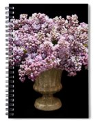 Lilacs In A Green Vase - Flowers - Spring Bouquet Spiral Notebook