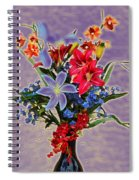 Lilies And Orchids Topaz II Spiral Notebook