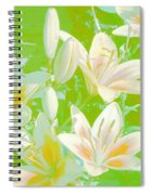 Lilies Greeting Card Spiral Notebook