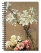 Lilies In A Vase Spiral Notebook