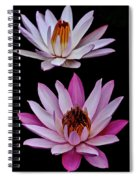 Lilies In Black Spiral Notebook