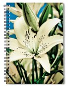 Lilies In White Spiral Notebook