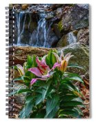 Lilies Of The Falls Spiral Notebook