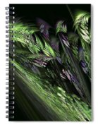 Lilies Of The Fractal Valley Spiral Notebook