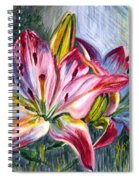 Lilies Twin Spiral Notebook