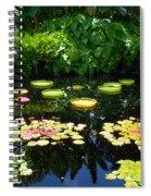 Lilly Garden Spiral Notebook