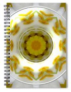 Lily And Daffodil Kaleidoscope Under Glass Spiral Notebook