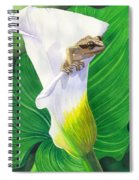 Lily Dipping Spiral Notebook