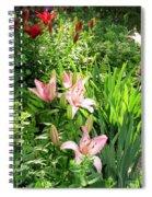 Lily Garden Spiral Notebook