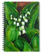 Lily Of The Valley Spiral Notebook