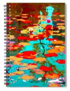 Lily Pads And Koi Colorful Water Garden In Bloom Waterlilies At The Lake Quebec Art Carole Spandau  Spiral Notebook