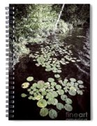 Lily Pads On Dark Water Spiral Notebook