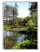 Lily Pond And Bridge Spiral Notebook