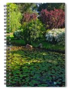 Lily Pond And Colorful Gardens Spiral Notebook