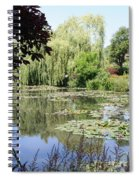 Lily Pond - Monets Garden - France Spiral Notebook
