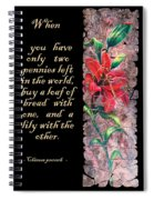 Lily Quote Spiral Notebook