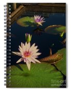 Lily White Monet Spiral Notebook