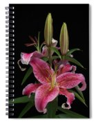 Lily With Buds Spiral Notebook