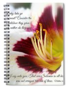 Lily With Scripture Spiral Notebook