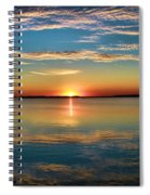 Lima Ohio Sunset Spiral Notebook