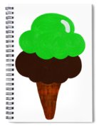 Lime And Chocolate Ice Cream Spiral Notebook