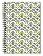 Lime Green And White Vines Spiral Notebook