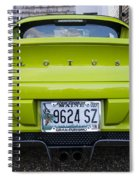Lime Green Lotus Spiral Notebook