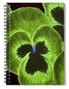 Lime Green Pansies Spiral Notebook